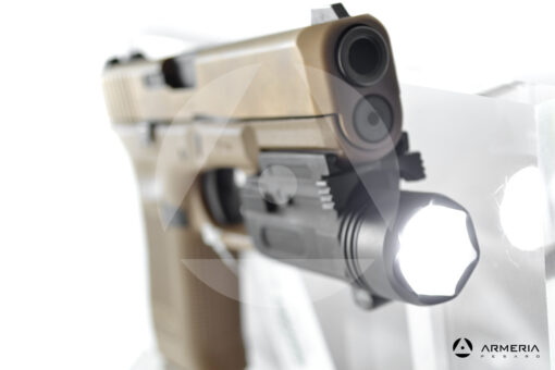 Pistola semiautomatica Glock modello 19X FDE calibro 9x21 canna 4 torcia accesa