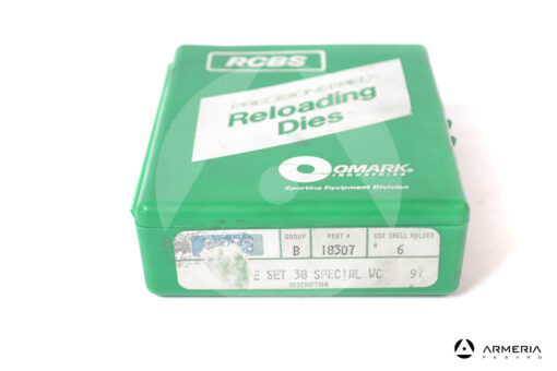 Dies RCBS 3-Die Set calibro 38 Special WC Gruppo B #18307