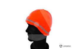 Cappello berretto arancio fluo 3 Cime taglia unica lato