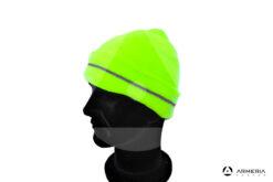 Cappello berretto giallo fluo 3 Cime taglia unica lato