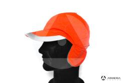 Cappello berretto in pile arancio fluo 3 Cime taglia unica lato