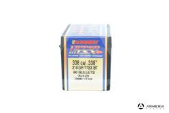 Palle ogive Barnes Tipped TSX calibro 338 – 210 grani TTSX BT - 50 pezzi #30428 lato