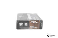 RWS Kegelspitz Hunting calibro 270 Win 150 grani - 20 cartucce lato